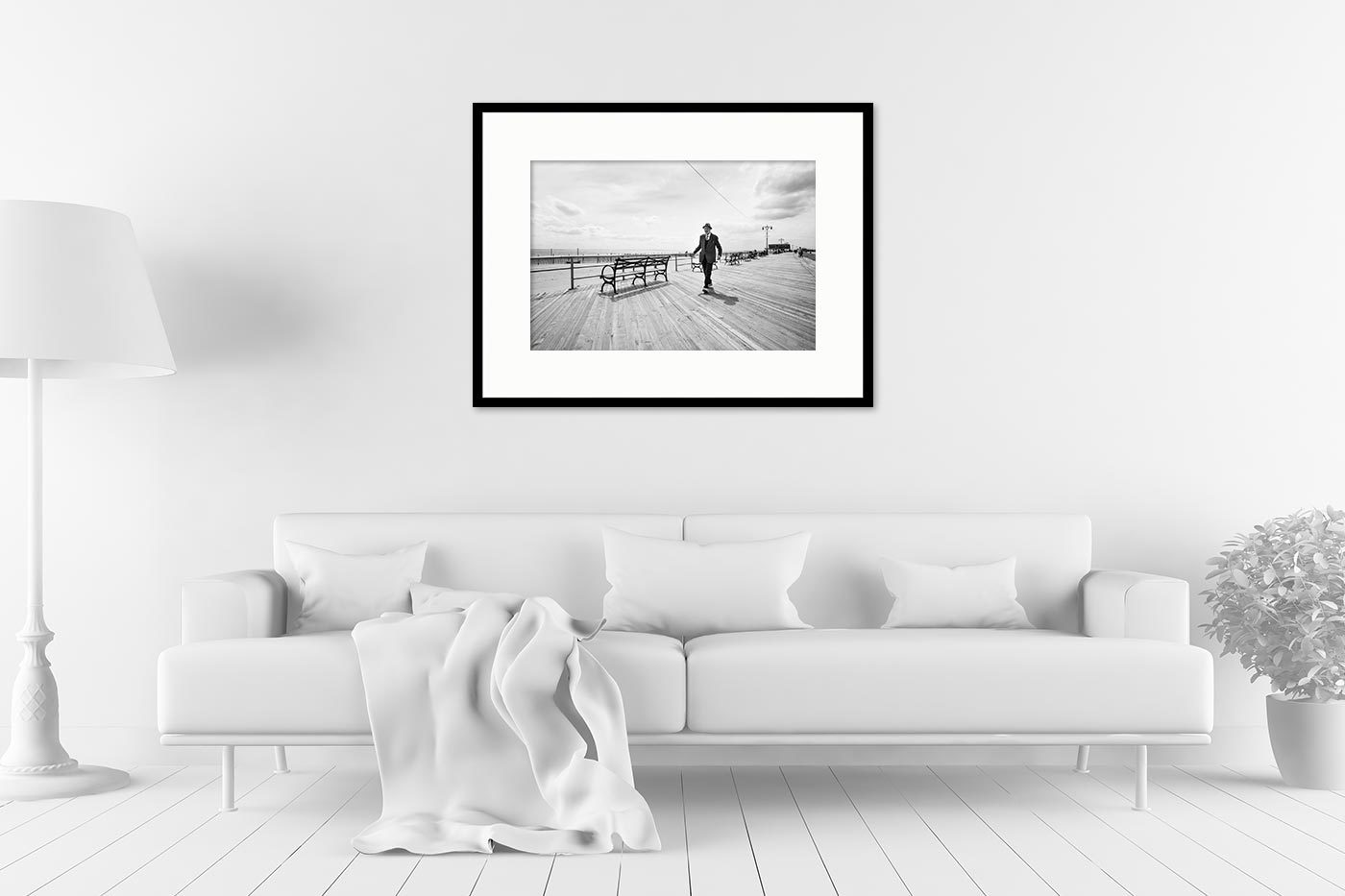 Gallery frame 60x80 Coney Island Man