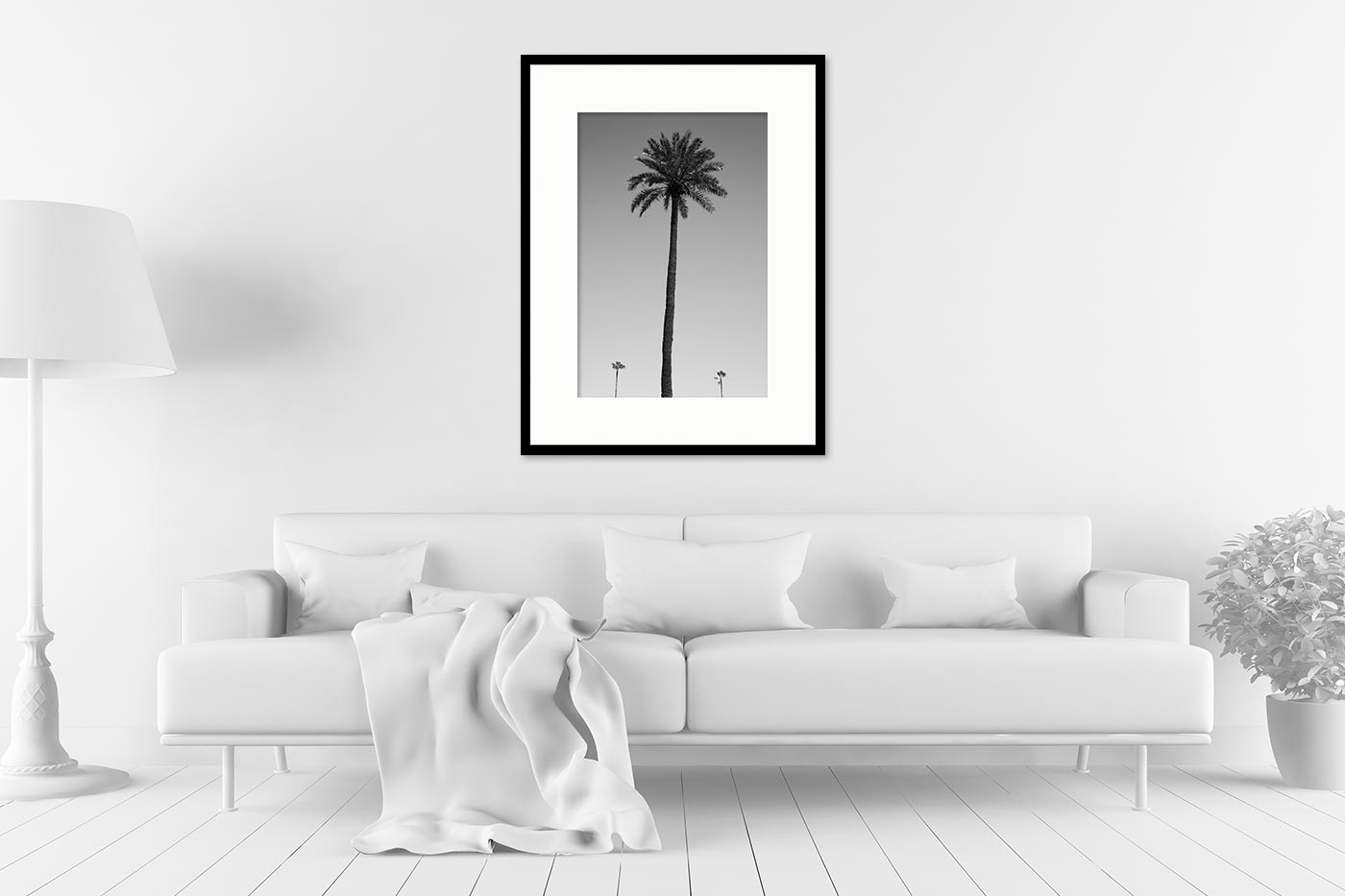 Cadre galerie 60x80 Three palm trees