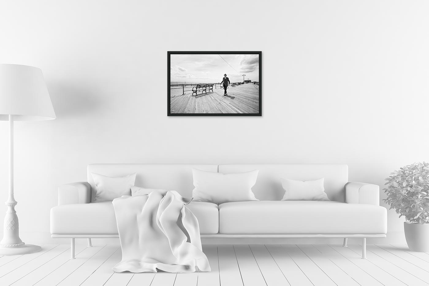 Caisse americaine 40x60 Coney Island Man