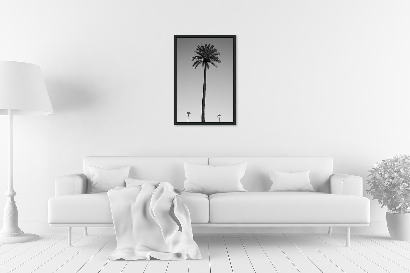 Caisse americaine 40x60 Three palm trees