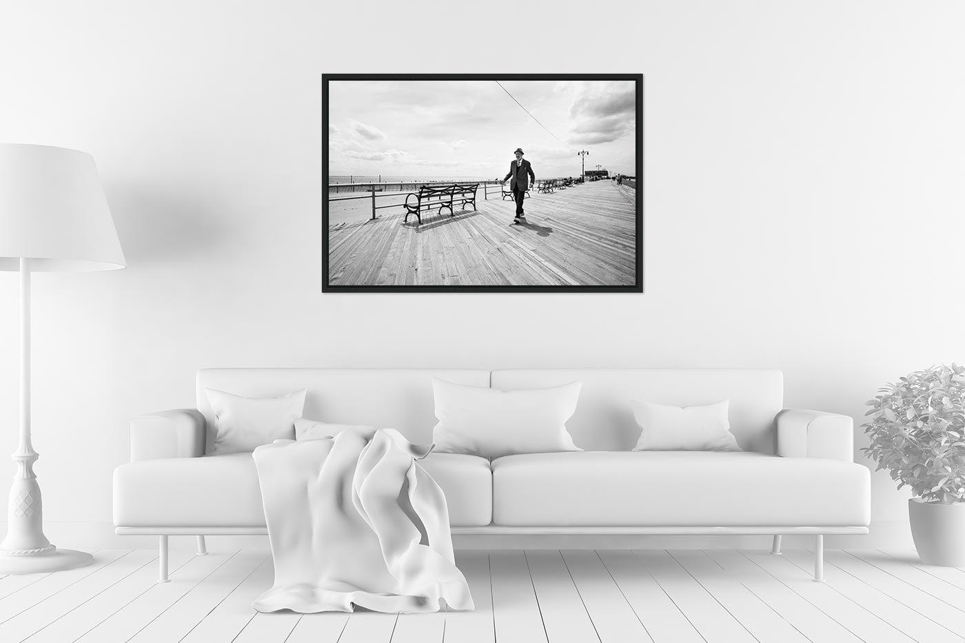 Caisse americaine 60x90 Coney Island Man