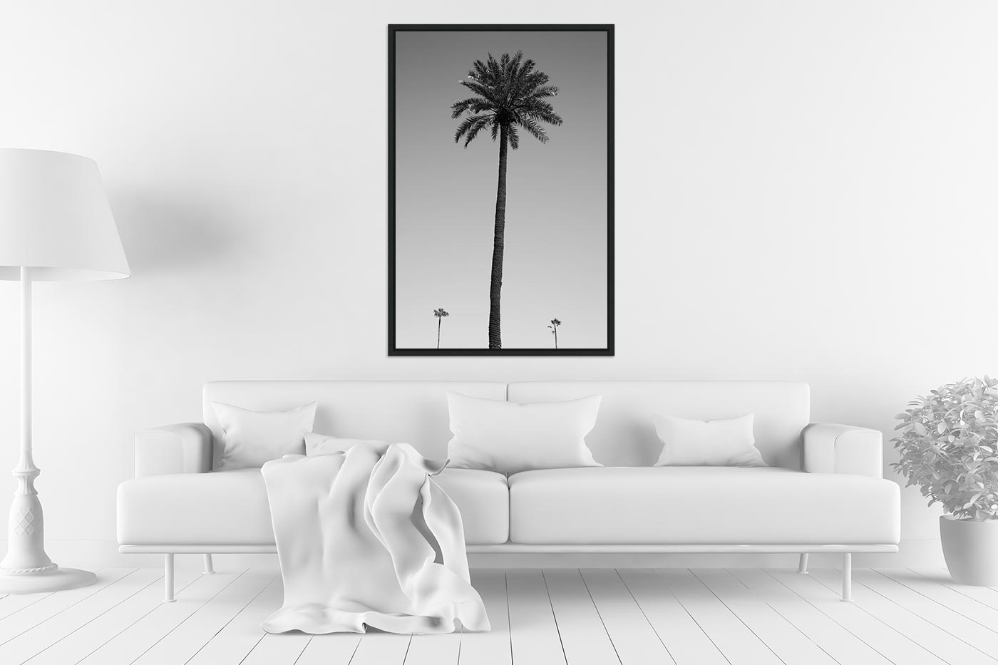 Caisse americaine 60x90 Three palm trees
