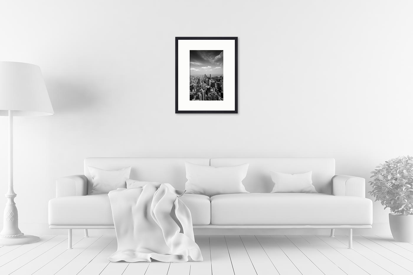 Cadre galerie 40x50 Buidings Sky