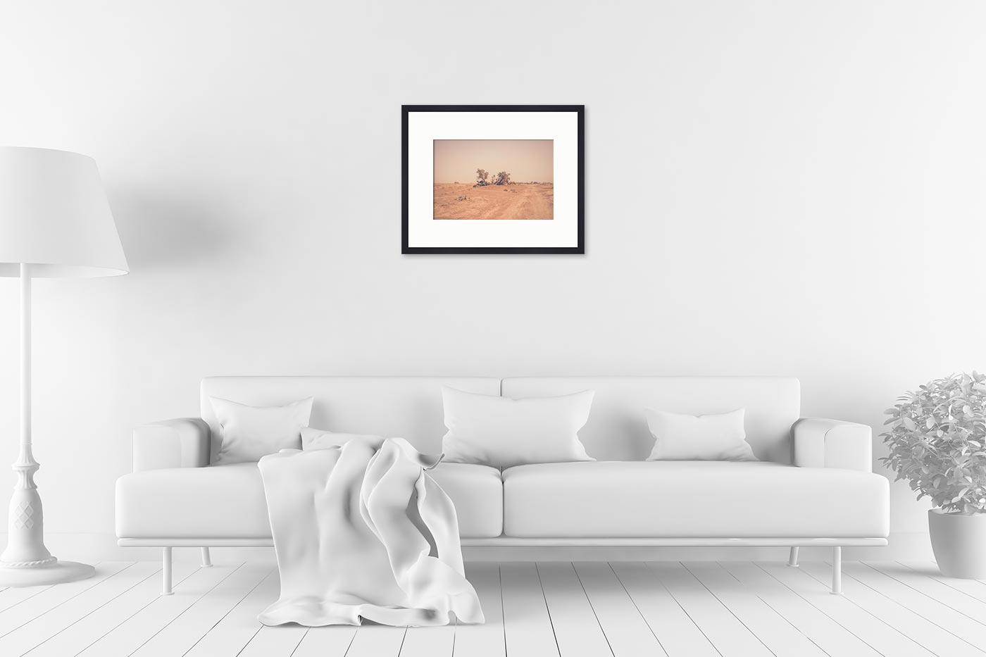 Cadre galerie 40x50 Camels Desert