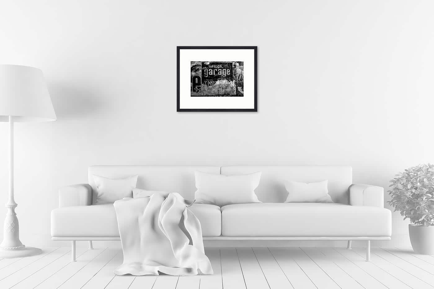 Cadre galerie 40x50 Garage