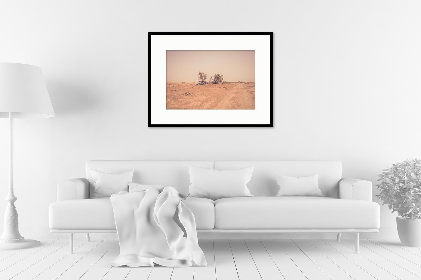 Cadre galerie 60x80 Camels Desert