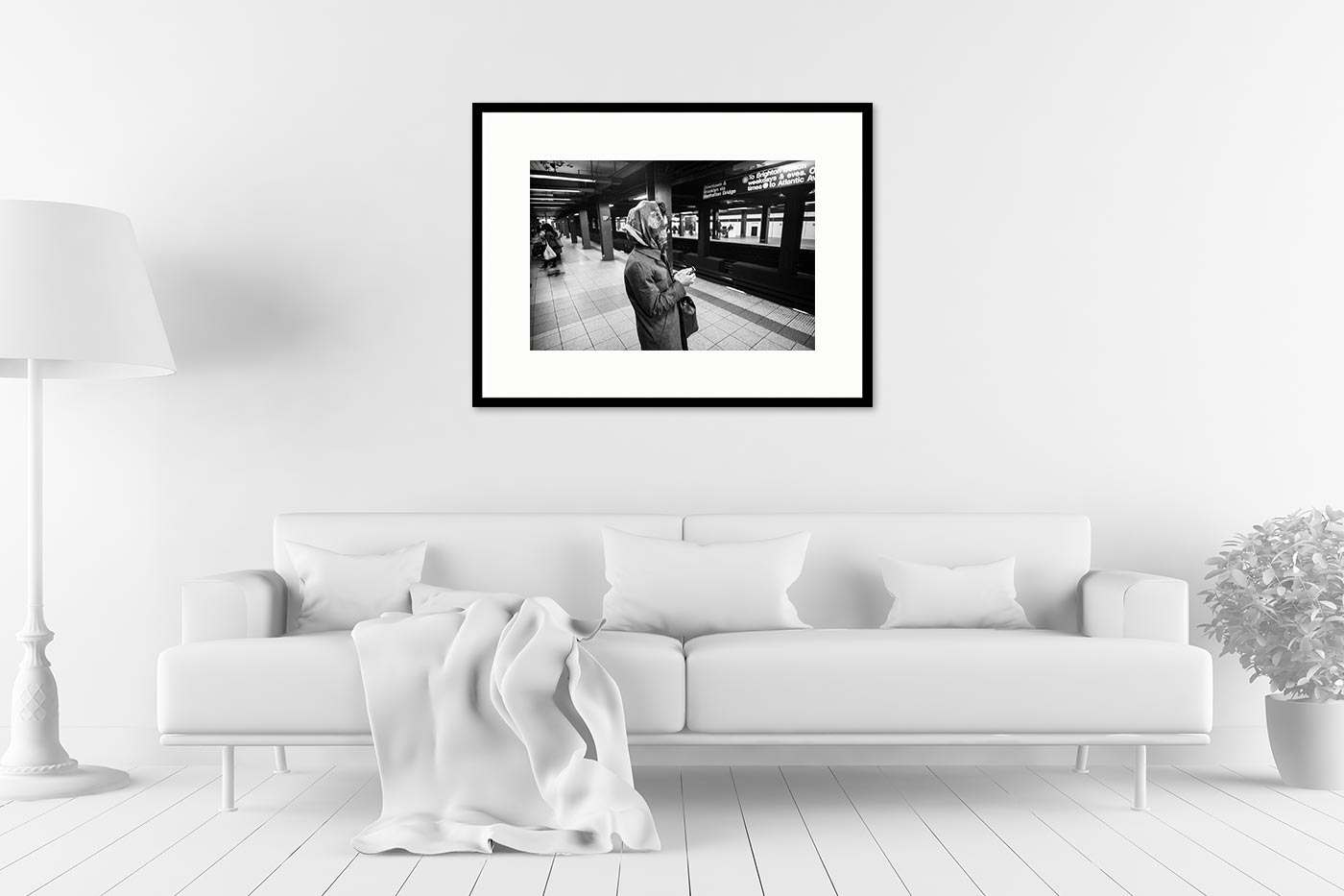 Cadre galerie 60x80 Lady Subway