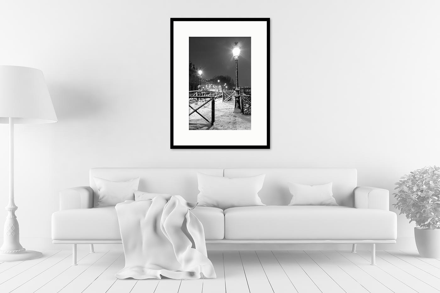 Cadre galerie 60x80 Light in Snow