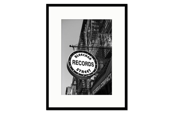 Gallery frame Bleecker Records