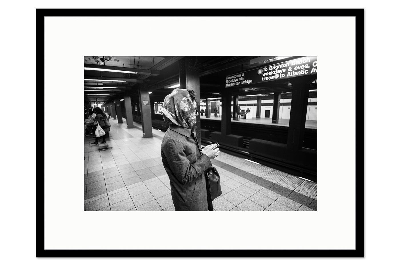 Cadre galerie Lady Subway