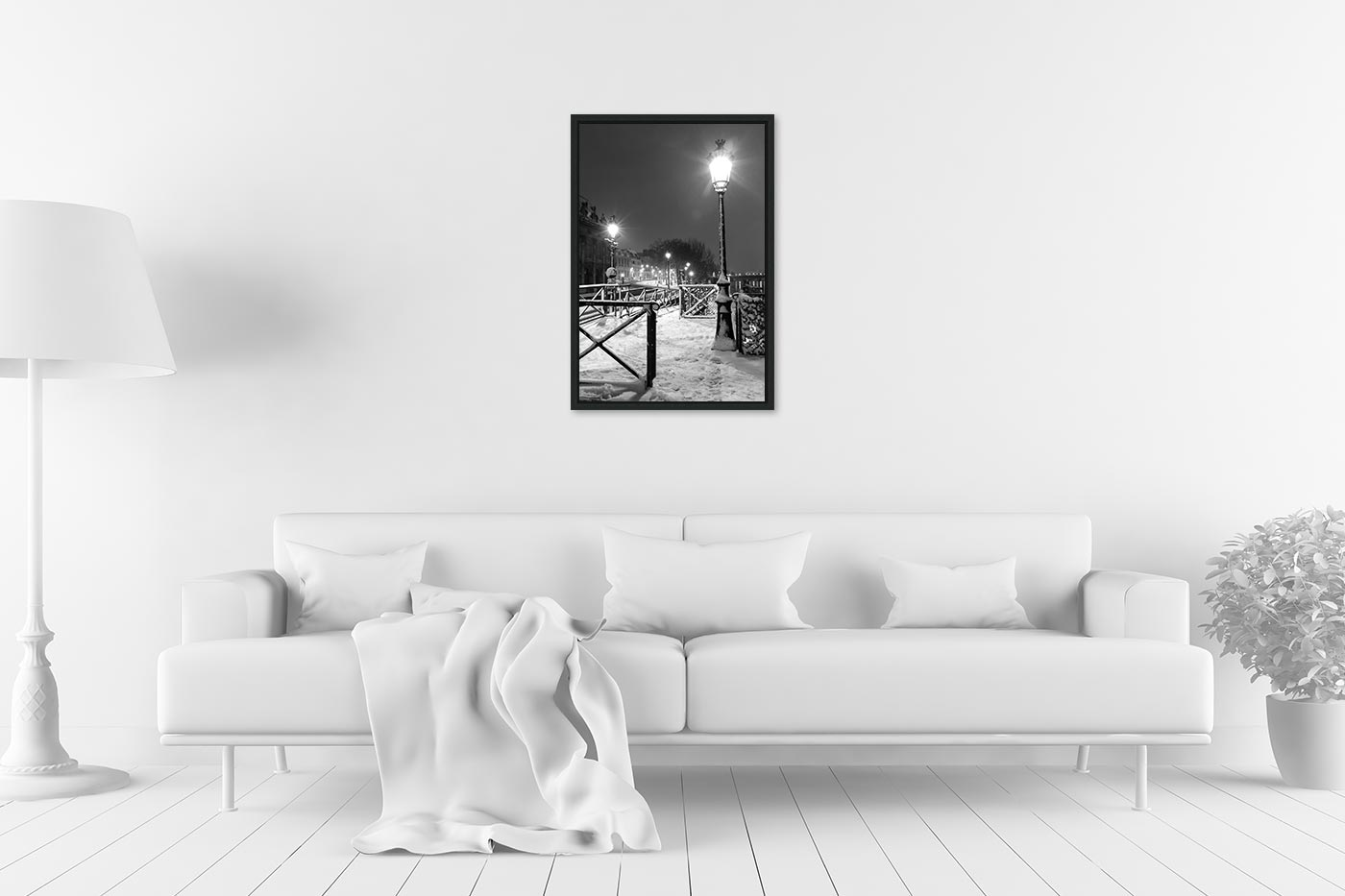 Caisse americaine 40x60 Light in Snow