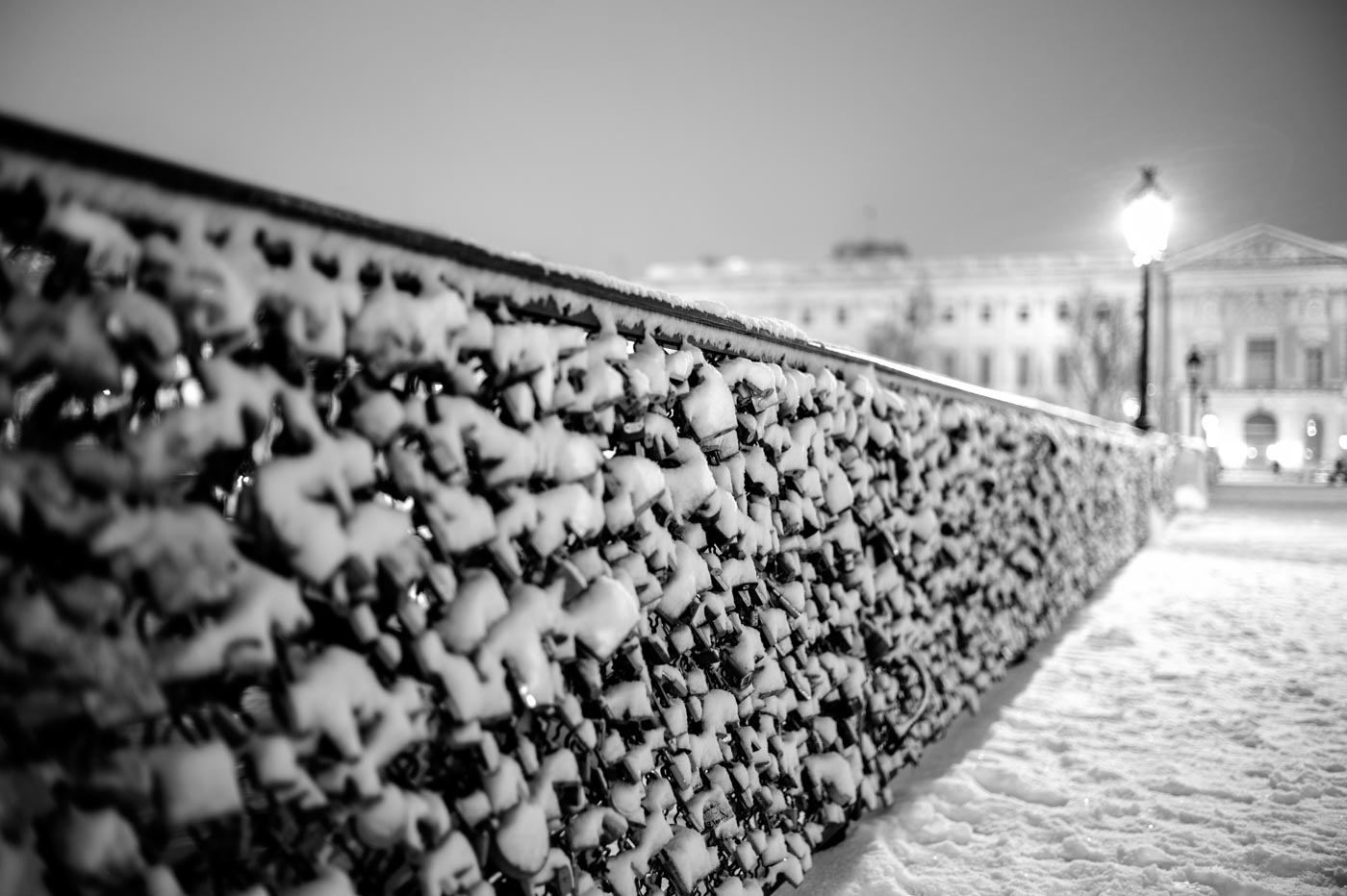 Snowy Lovers' Bridge