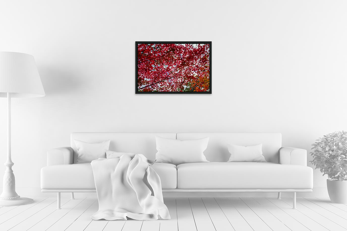 Caisse americaine 40x60 Small red tree leaves