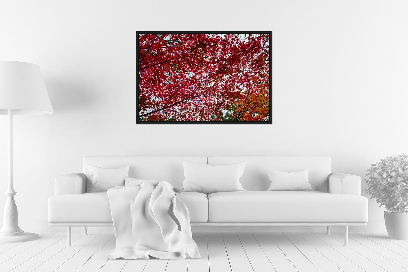 Caisse americaine 60x90 Small red tree leaves