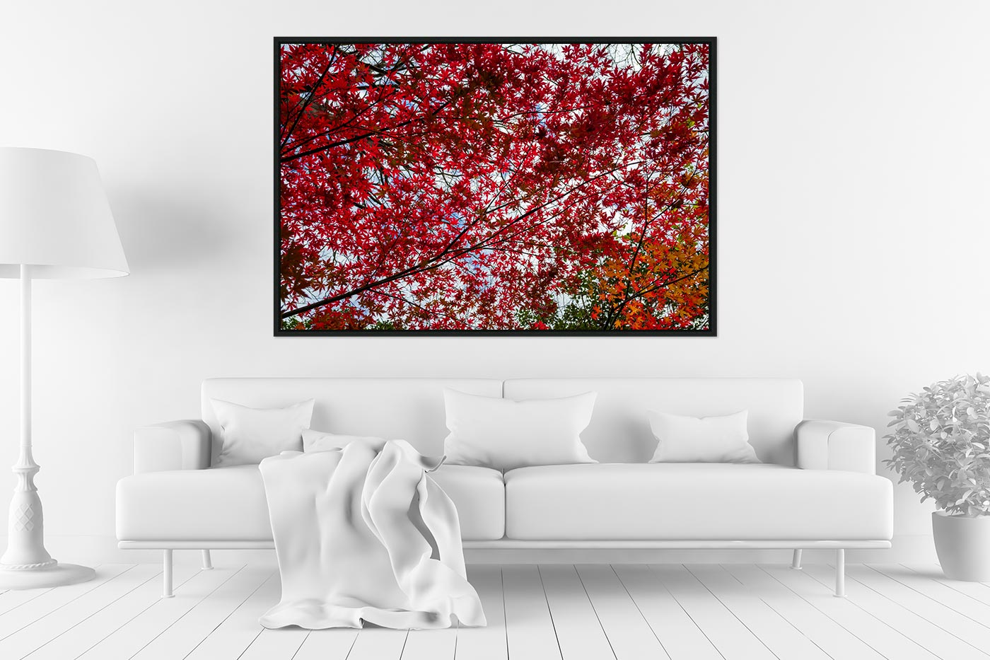 Caisse americaine 80x120 Small red tree leaves